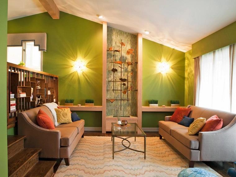 Colores calidos para el saln 50 ideas impresionantes