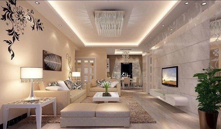Salones de lujo  veinticinco ideas para decorar con estilo