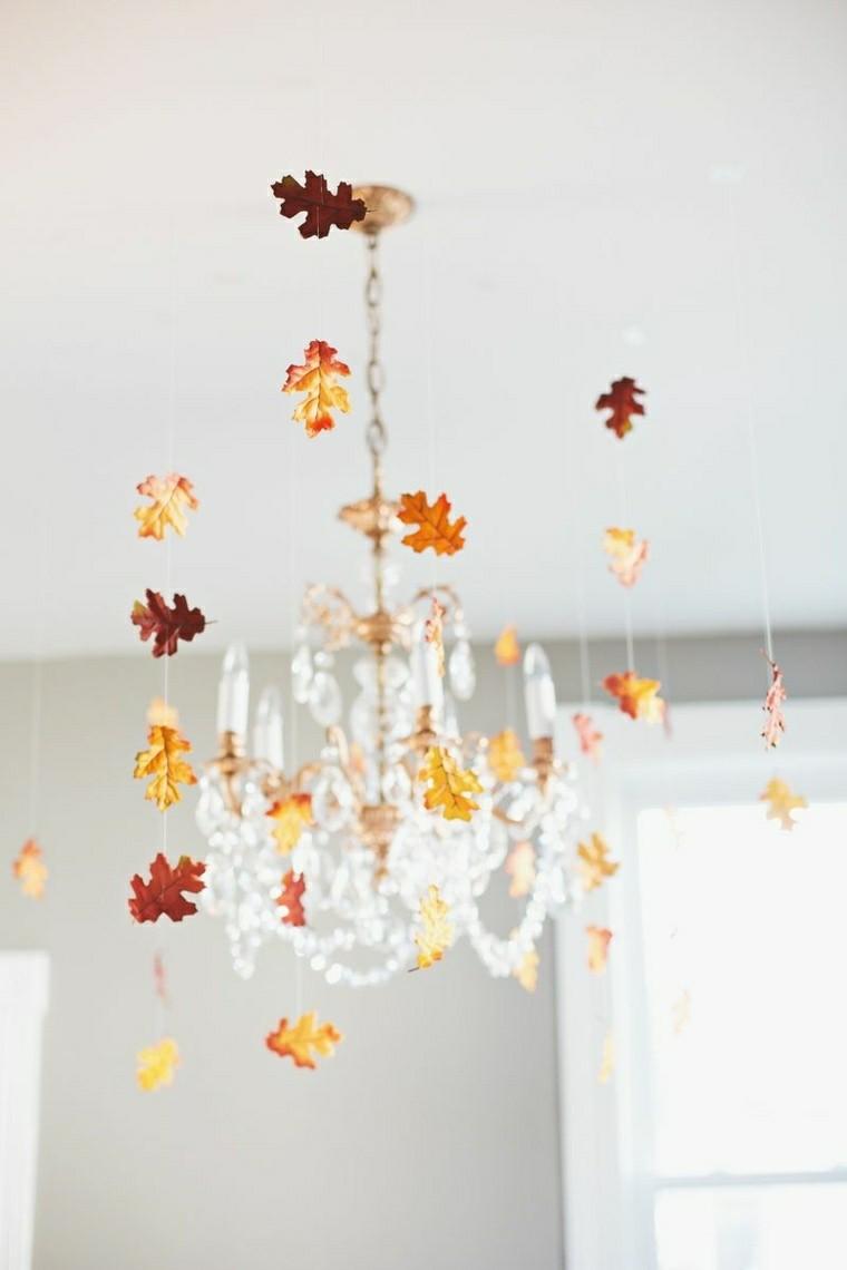 Hojas de arboles secas para adornos de otoo  50 ideas