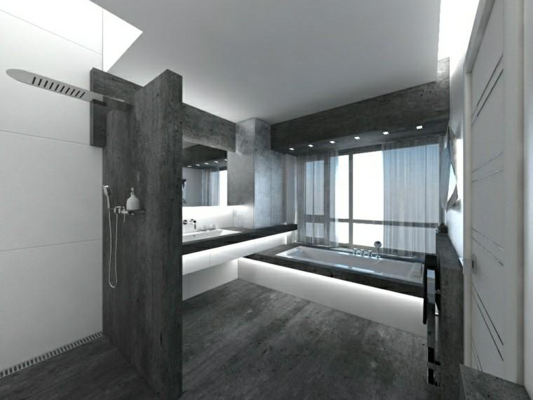 Negro gris y marrn en el cuarto de bao  50 diseos