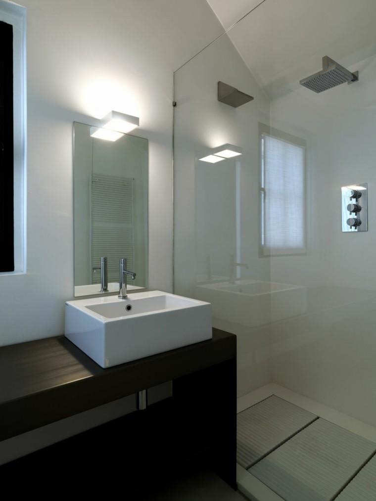 Baos modernos con ducha  cincuenta ideas estupendas