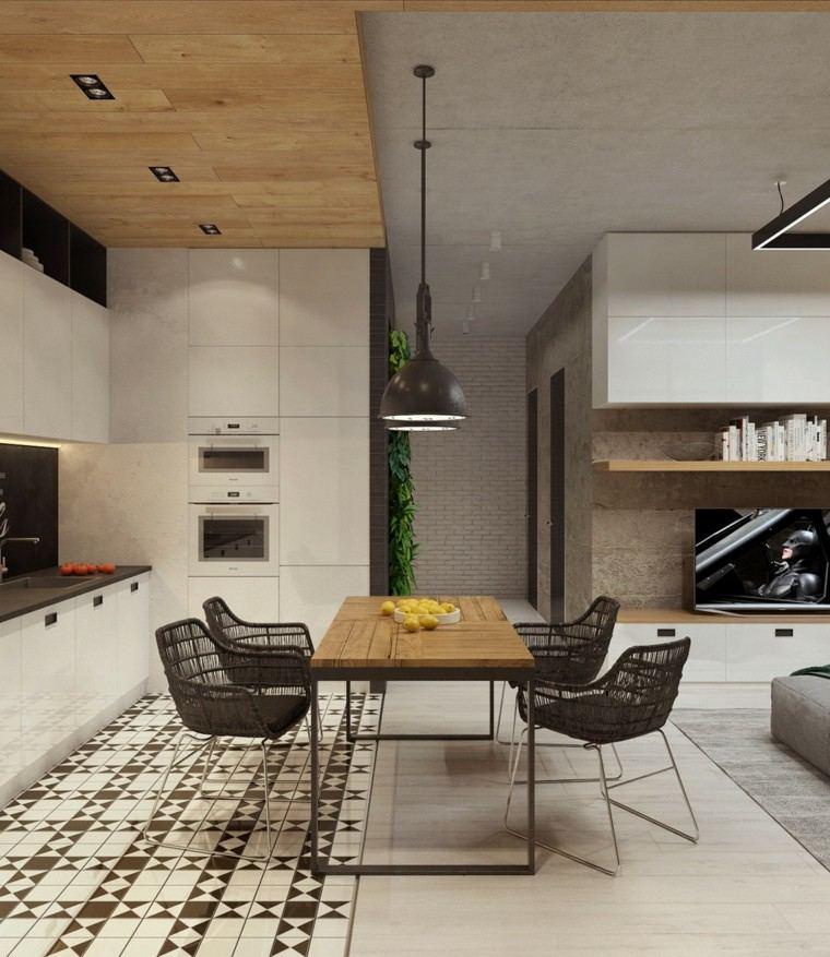 Cemento pulido o sin pulir para apartamentos modernos