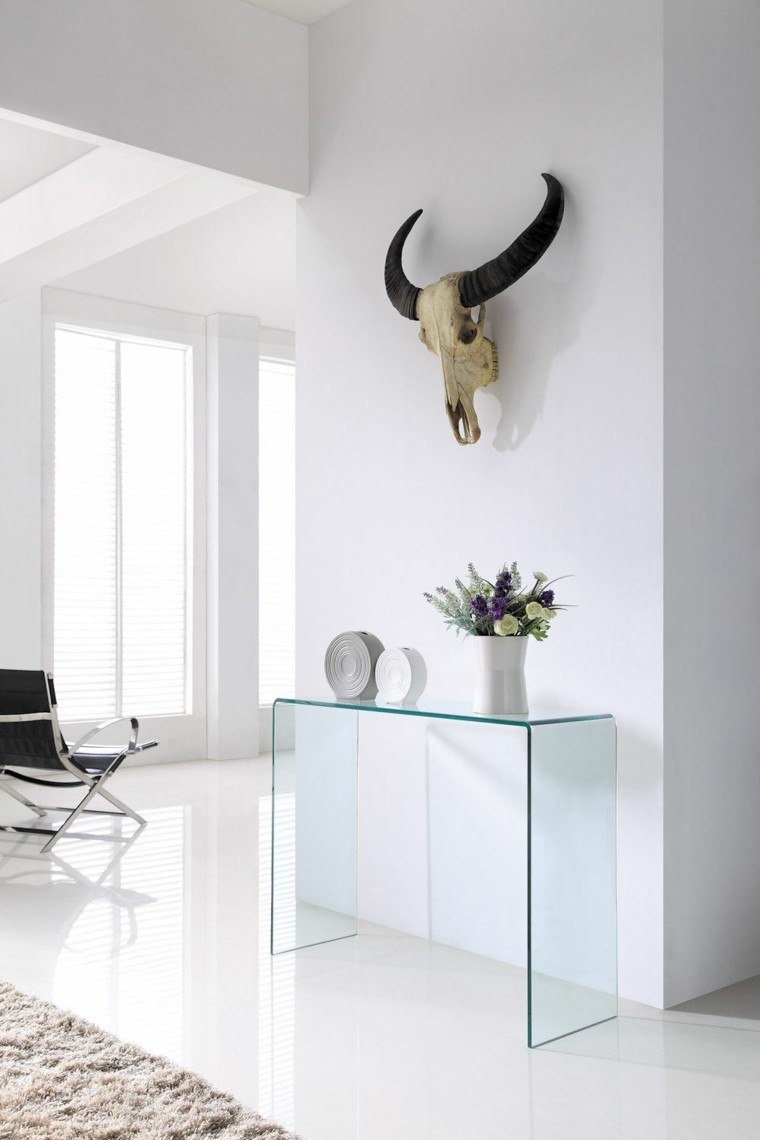 Consolas de vidrio redescubriendo su utilidad en el hogar