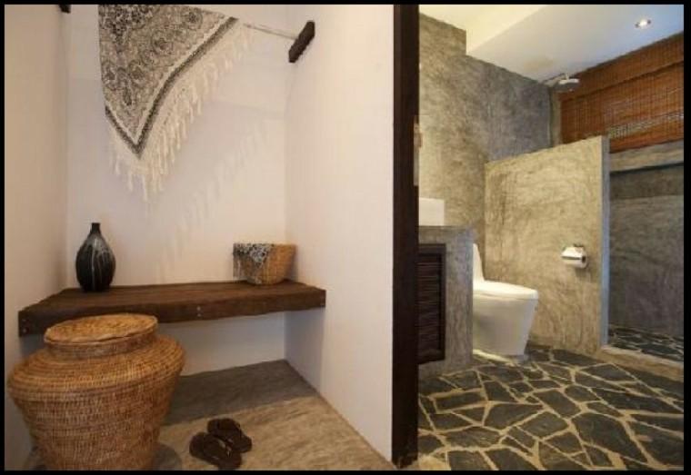 Cuartos de bao rusticos  50 ideas con madera y piedra