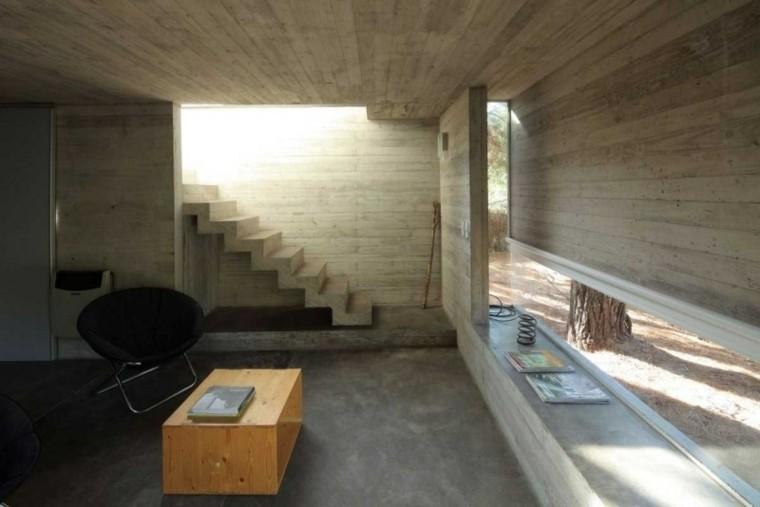 Hormigon como elemento decorativo de interiores