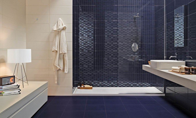 Mosaico losas y ms ideas para suelos en blanco y azul