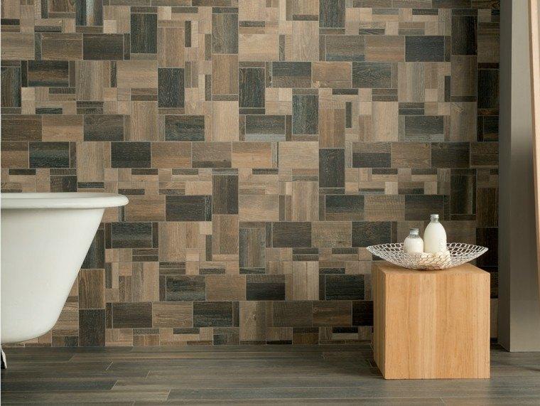 Baldosas azulejos y losas que imitan madera muy originales