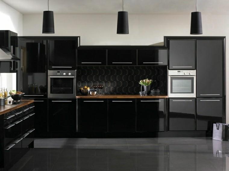 Magia negra en la cocina 50 ideas de muebles en negro