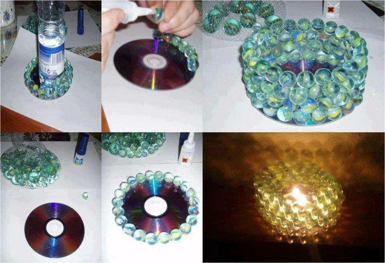 original diseño disco canicas vela