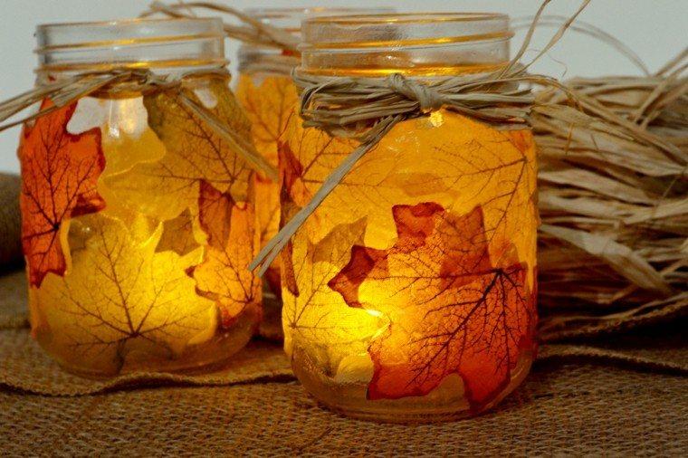 Otoo con hojas secas ideas para decorar la casa