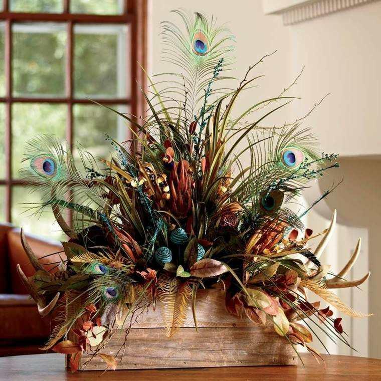 Plumas para decorar  cincuenta ideas originales