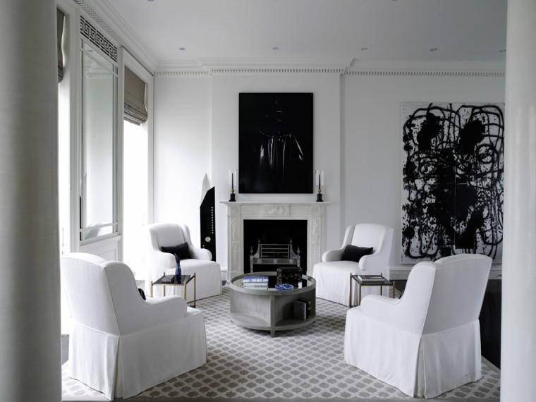 Blanco y negro 50 ideas para el saln moderno y elegante