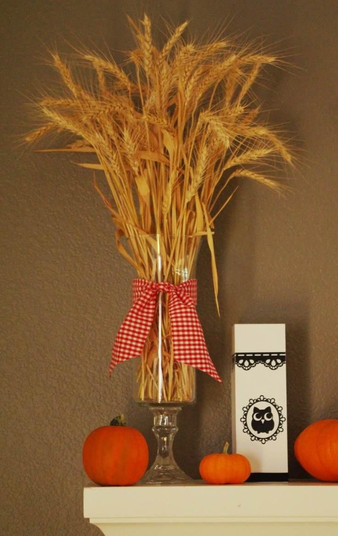 Trigo y otros cereales para decorar el hogar en otoo