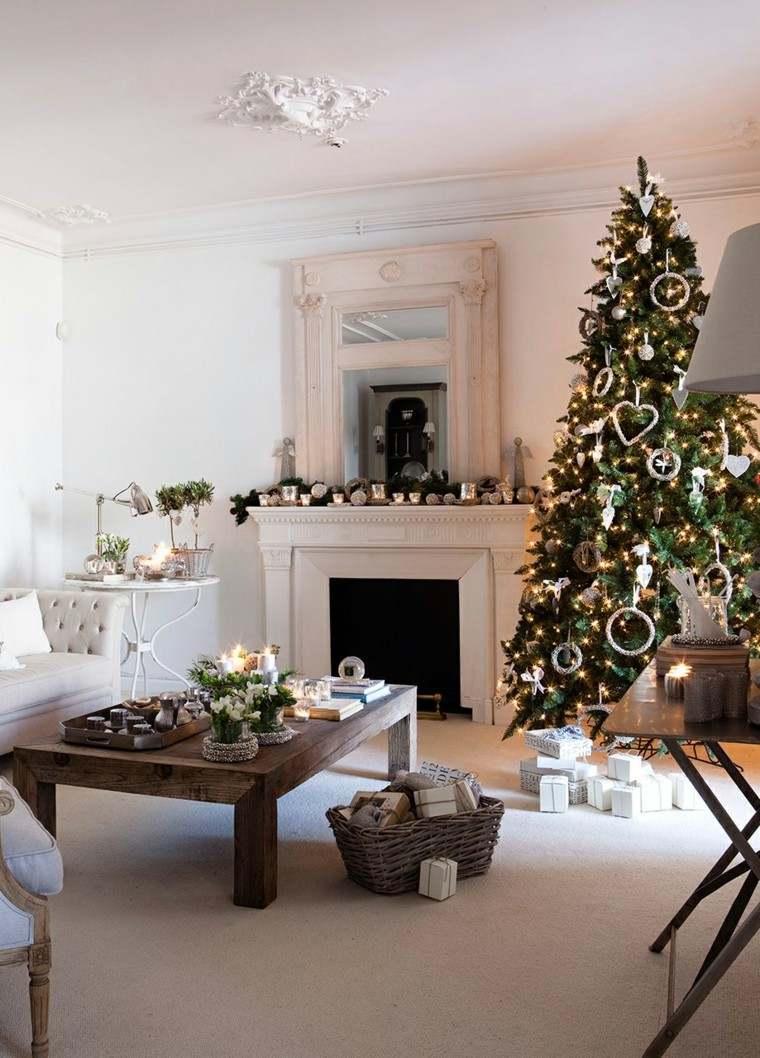 Decoracion navidea chimeneas adornadas preciosas