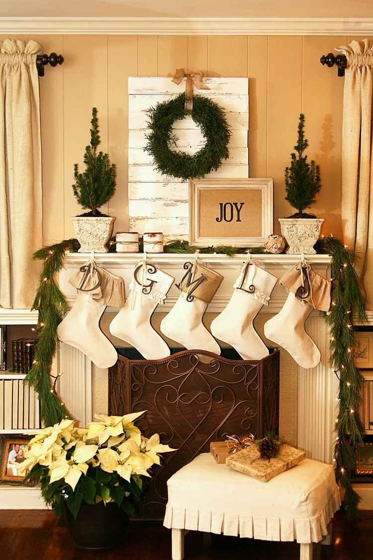 Adornos decoracion navidea para el saln moderno