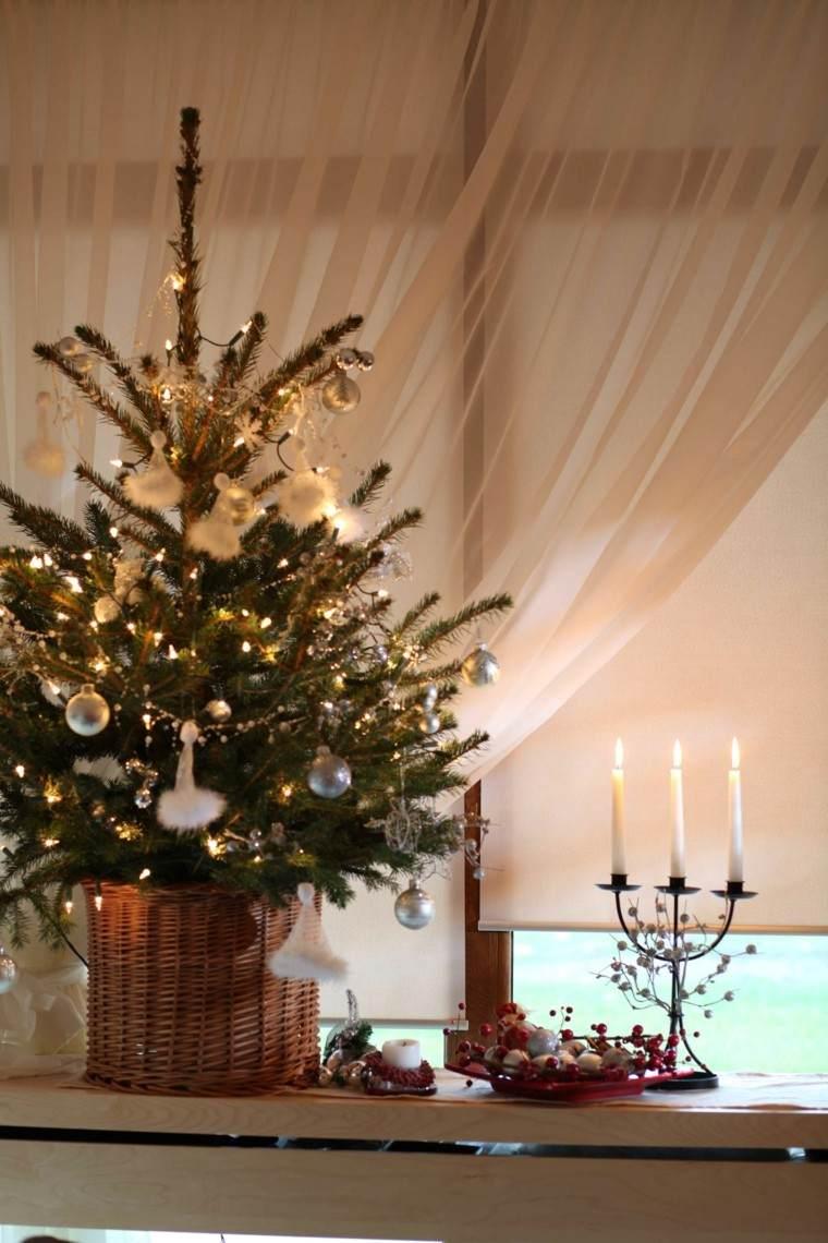 Decoracion navidea ventanas con adornos preciosos