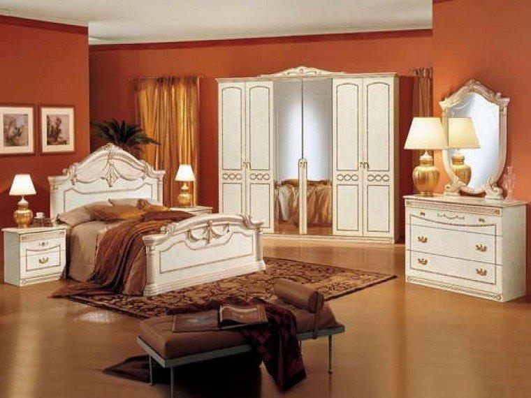 Dormitorio ideas de muebles y paredes en colores otoales