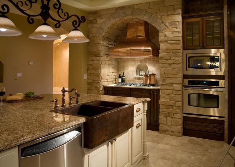 Fregaderos de cobre 25 ideas para la cocina