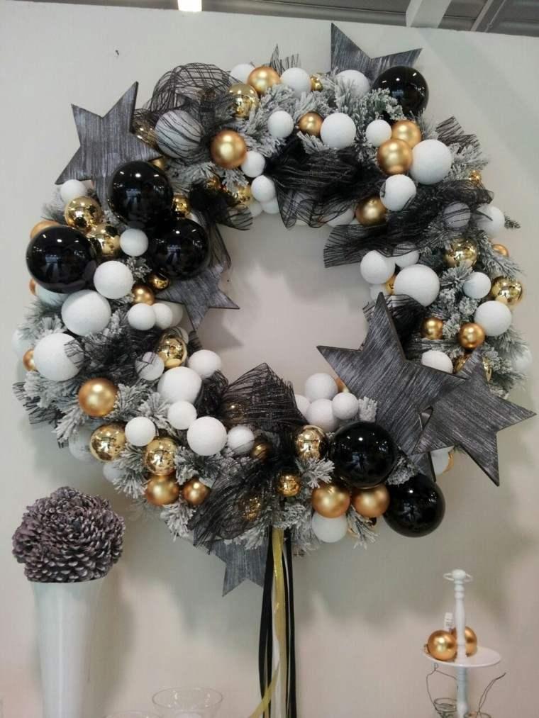 Guirnaldas de luces ramas papel flores para navidad