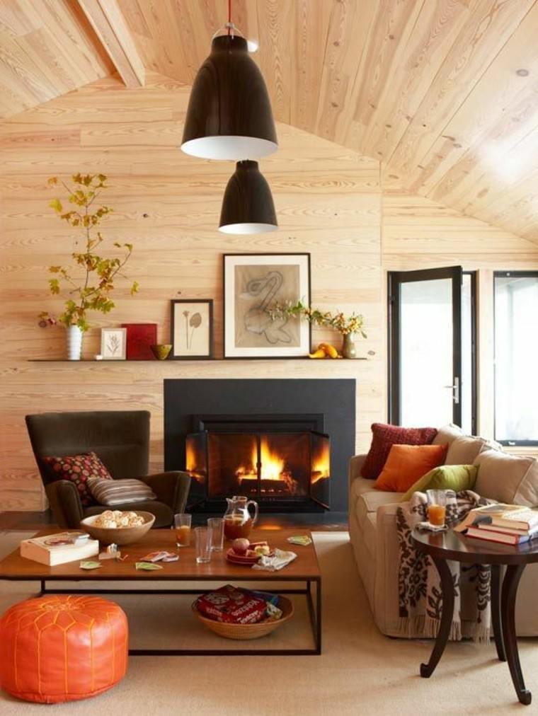 Otoo decoracion de salones con aires clidos y acogedores
