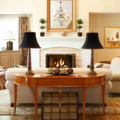 Living Room Side Table Decorating Ideas Wall Color For With Brown Sofa Mesas Consolas Detras Del Sofá: 35 Para El Salón
