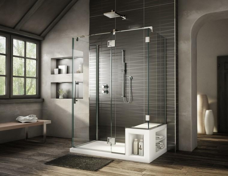 Baos modernos con ducha ideas de diseo fabulosas