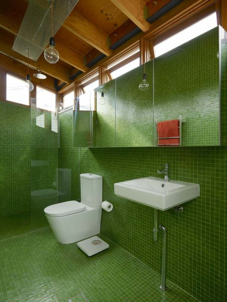Baos modernos colores vibrantes para las paredes