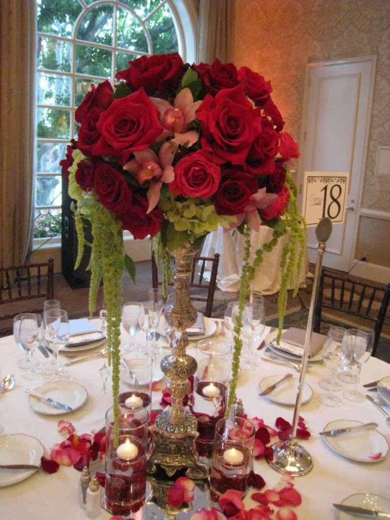 Centros de mesa para bodas  38 diseos romnticos