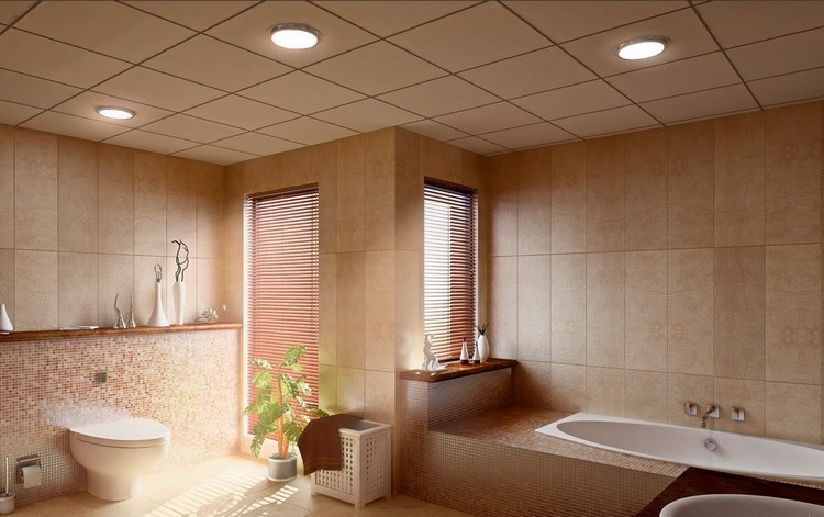 Lamparas de techo para cuartos de bao  50 ideas