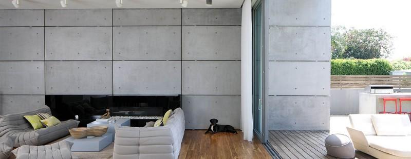 Hormign armado expuesto decorando la casa moderna