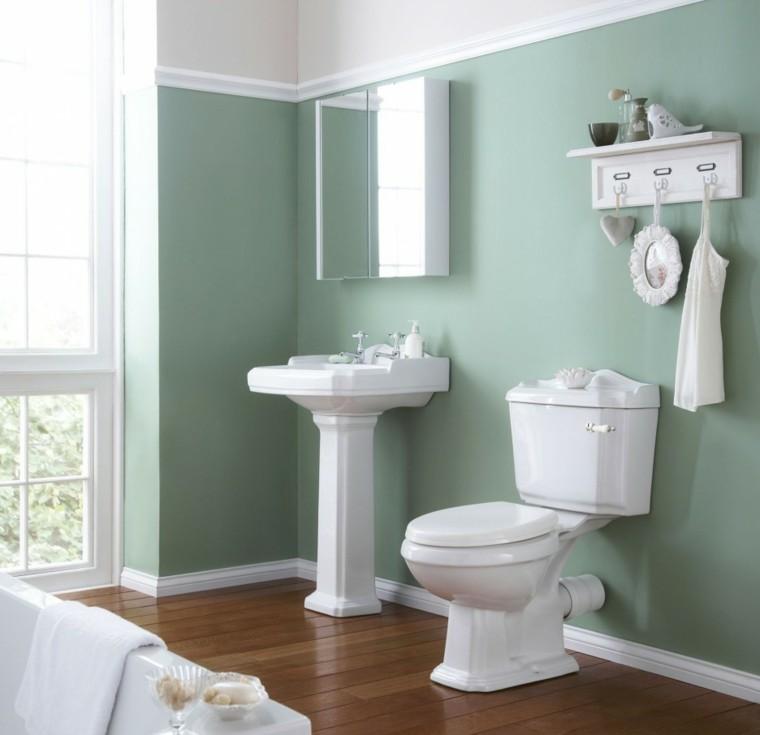 Baos de color  los tonos ideales para el cuarto de bao
