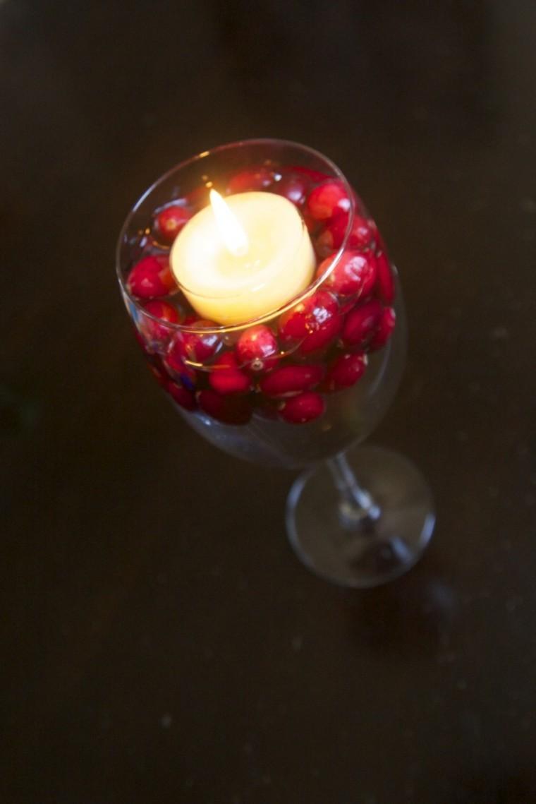 Centros de navidad con velas  50 ideas geniales