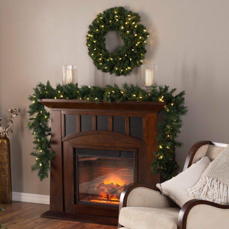 Chimenea navidea  cincuenta ideas para su decoracin