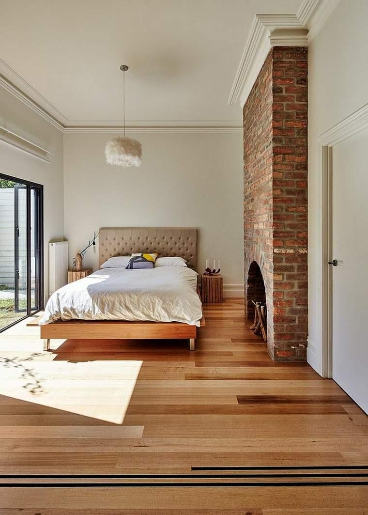 Dormitorios opciones originales de paredes de ladrillo
