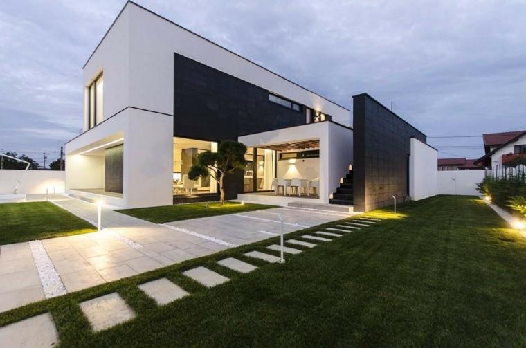 Fachadas modernas de estilo contemporneo