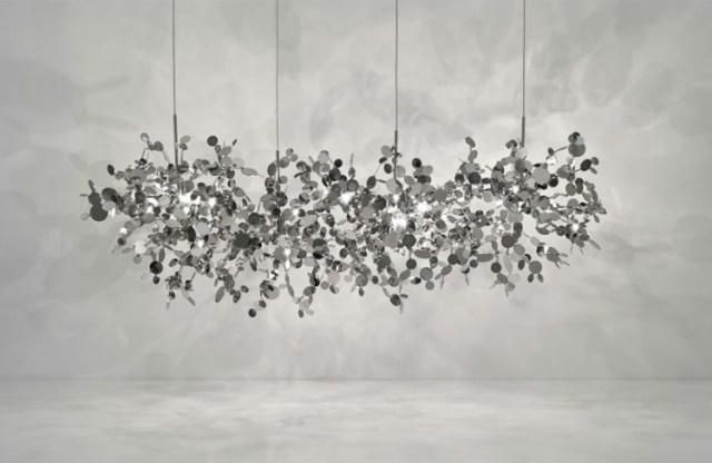aydınlatma fikirleri gri stiller yaratıcı duvarlar