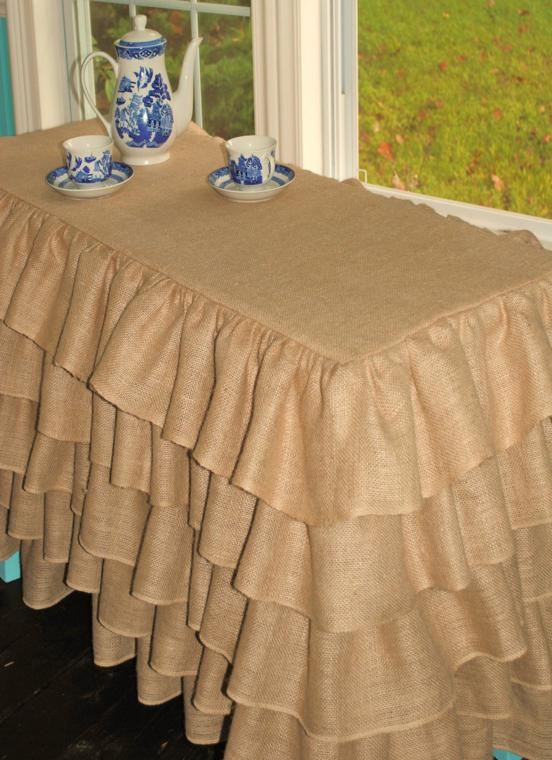 Arpillera para decorar la mesa  50 manteles rsticos