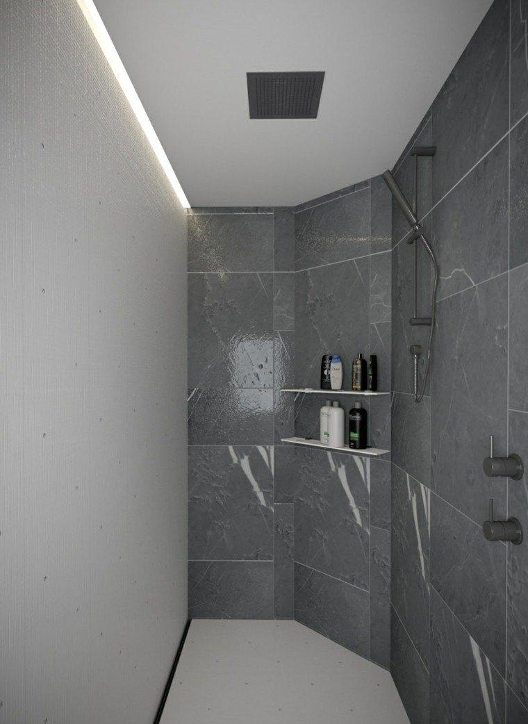 Baos modernos con ducha 50 diseos impresionantes