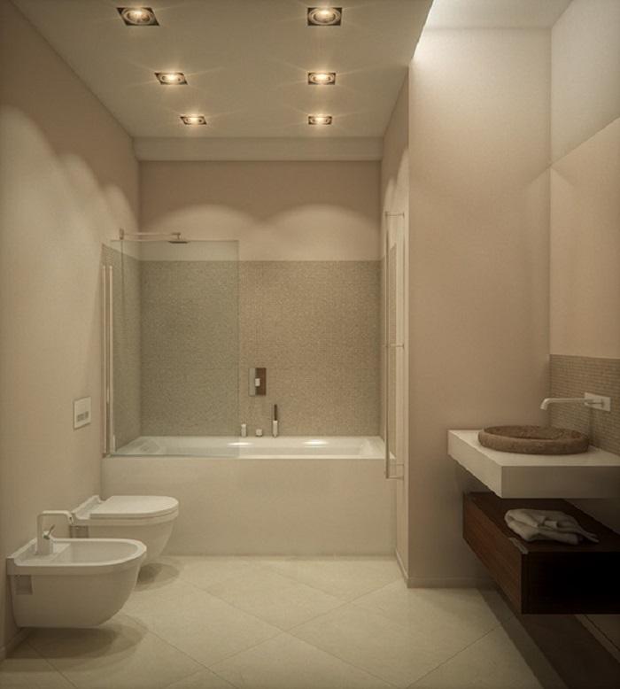 Imagenes baos con ducha y baera preciosos