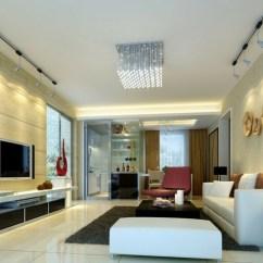 C Shaped Sofa Designs Leather Bobs Furniture Iluminacion Salon Y Diseños Con Luminarias Variadas.