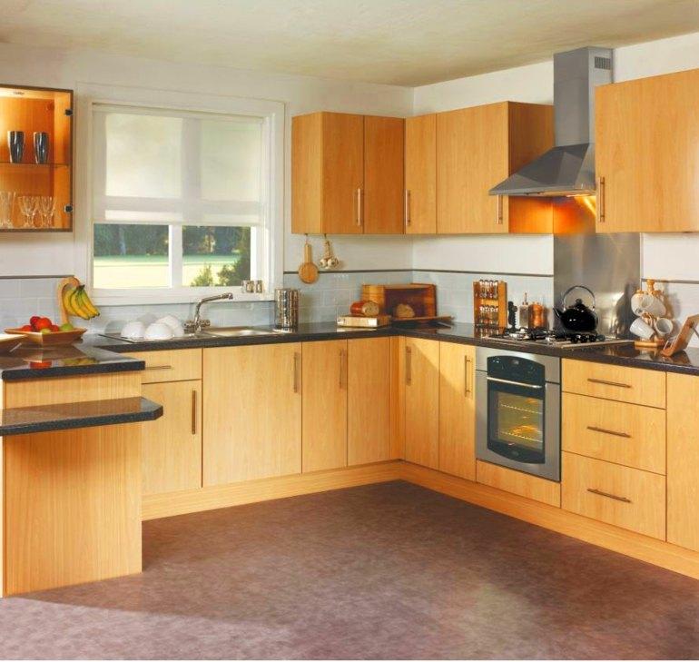 White L Kitchen Designs Shaped