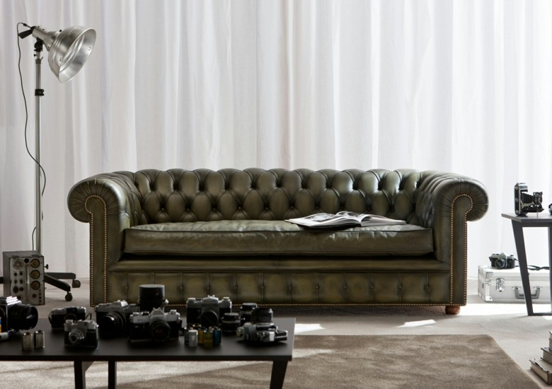 Sofas Chester de estilo moderno  treinta y ocho modelos