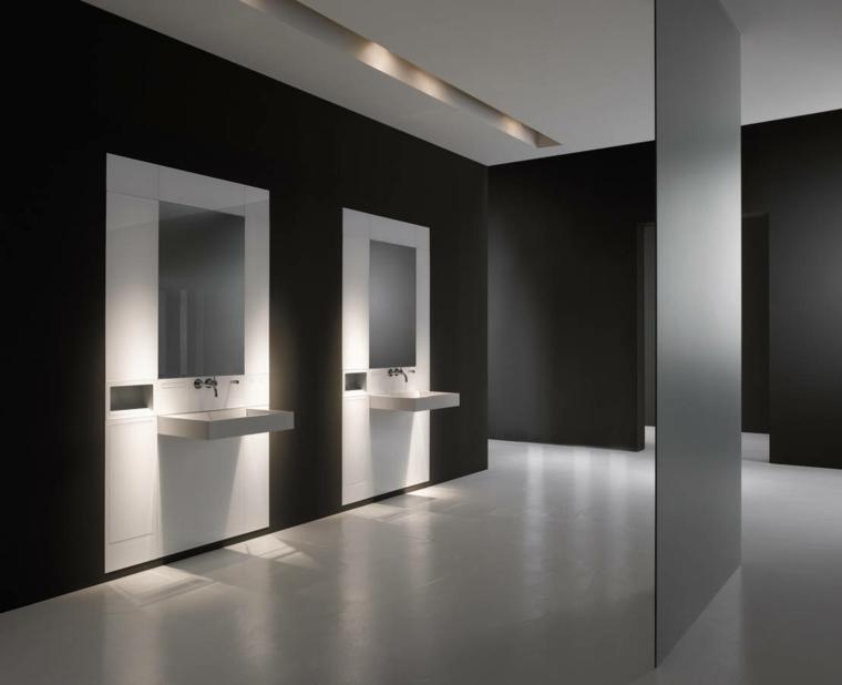 Cuartos de bao de estilo minimalista  50 diseos oscuros