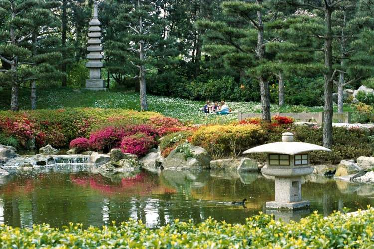 Jardines japoneses modernos  25 ideas de paisajismo