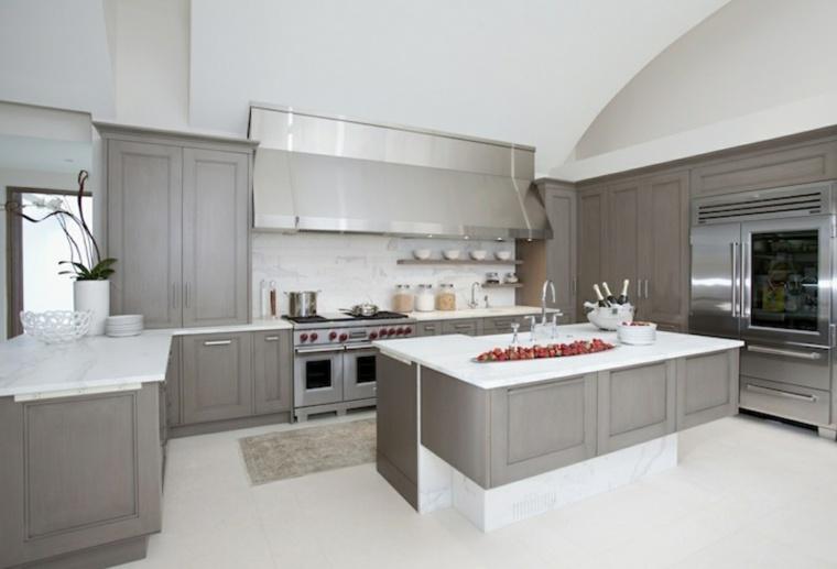 Cocinas blancas y grises  los 50 diseos ms actuales