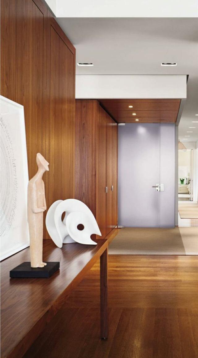 recibidores con encanto moderno madera lamiada