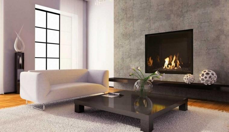 Salones con chimenea moderna  50 interiores clidos