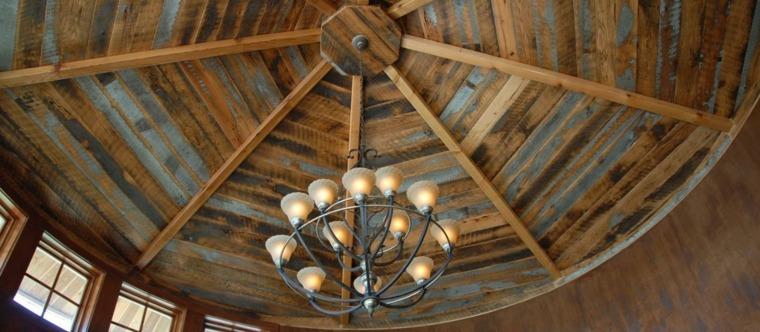 Maderas rusticas para decorar interiores  38 ideas