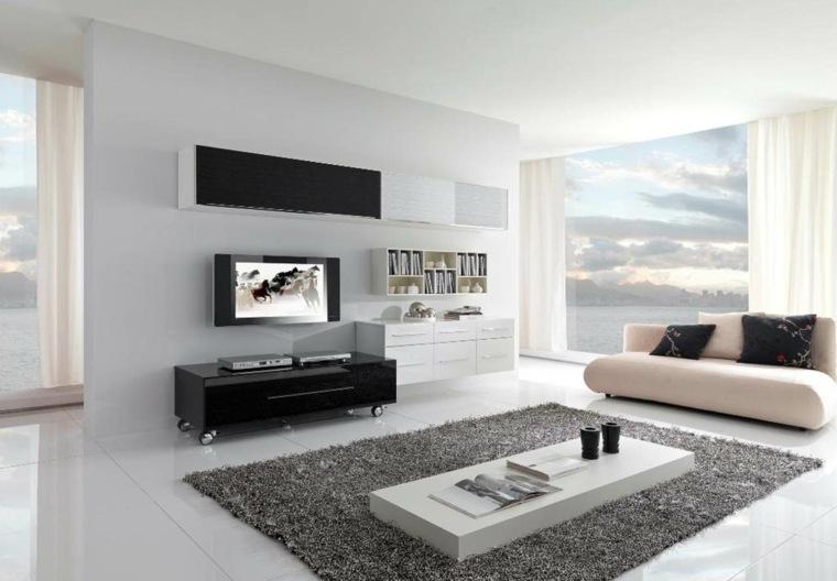 Interiores minimalistas 85 habitaciones en blanco y negro