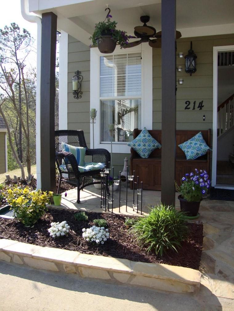 Porches jardn y muebles preciosos para la entrada